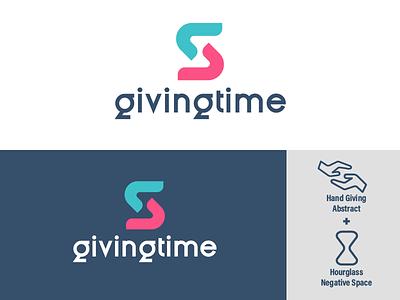 GivingTime Logo Concept time design illustration vector adobe illustrator cc logodesign logo