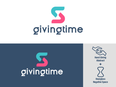 GivingTime Logo Concept time design illustration vector adobe illustrator cc logodesign logo