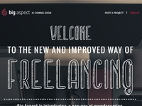 Big Aspect Homepage Design