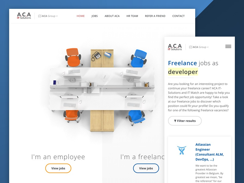 Job portal vacancies it aca freelancer employee jobs