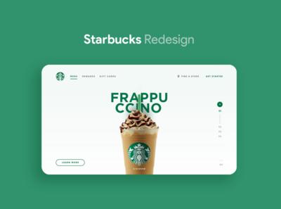 Starbucks - UI/UX Redesign website web ux ui starbucks redesign landing interface design coffee