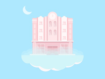 The Pink Hotel adobe illustrator digital art illustration art illustrator flat illustration flat design design illustration
