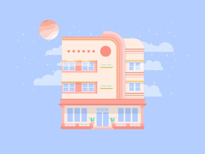 Interstellar Hotel illustrations digital art design illustration graphic design illustration art digital illustration flat design flat illustration adobe illustrator