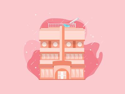 Stargaze Motel illustrator adobe illustrator flat illustration digital art pastel illustrations illustration art illustration digital illustration flat design