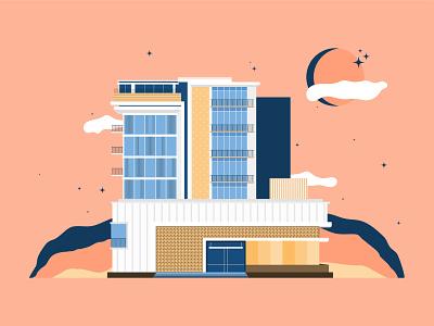 California Hotel graphic design illustrator illustrations illustration art illustration digital illustration digital art flat design flat illustration adobe illustrator
