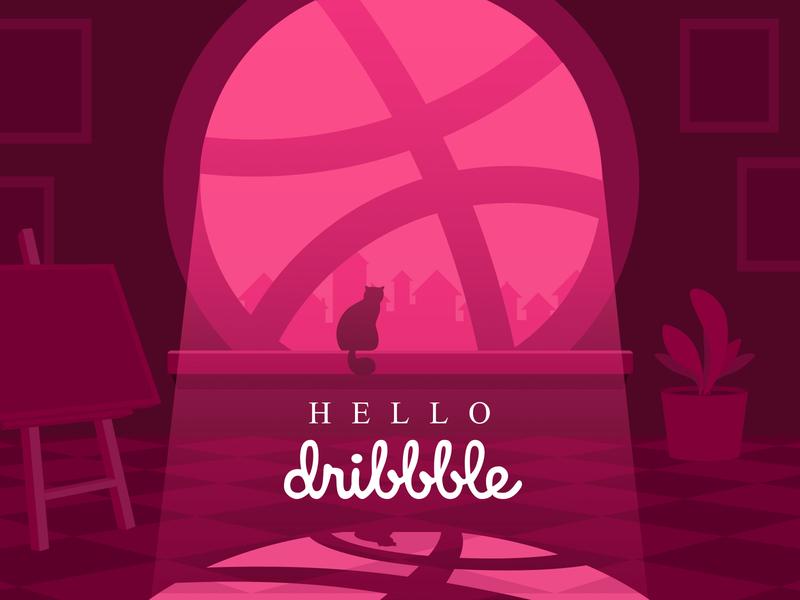 Hello Dribble hello dribbble illustration design
