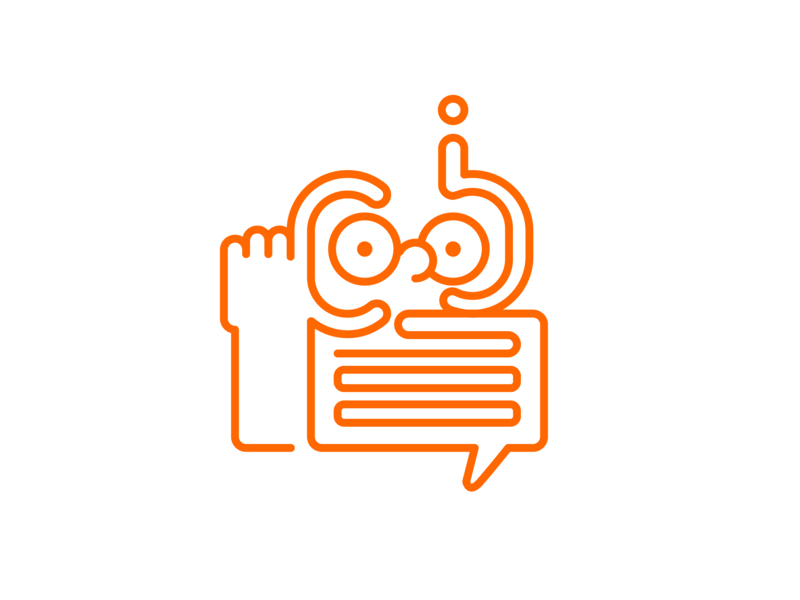 Q&A Icon answers questions line icon discuss questionaire vector icon design
