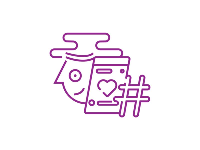 Instagram feed & hashtag - Icon Design hashtags instagram feed instagram line icon vector icon design