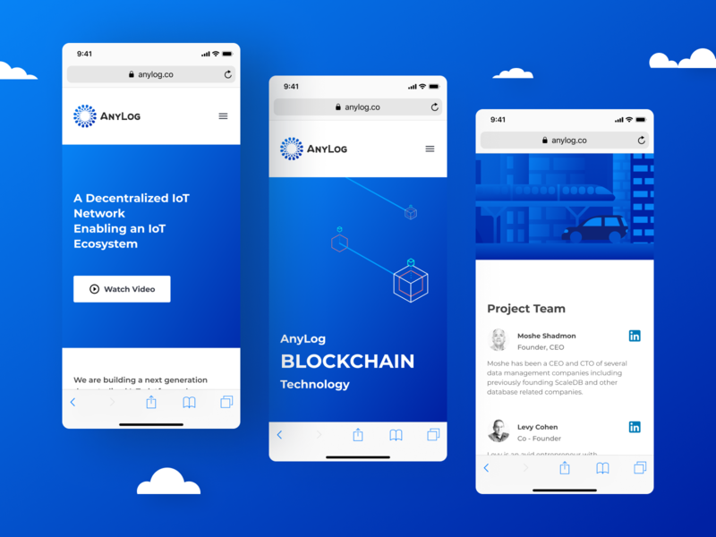 Project - AnyLog app design mobile ui mobile app mobile