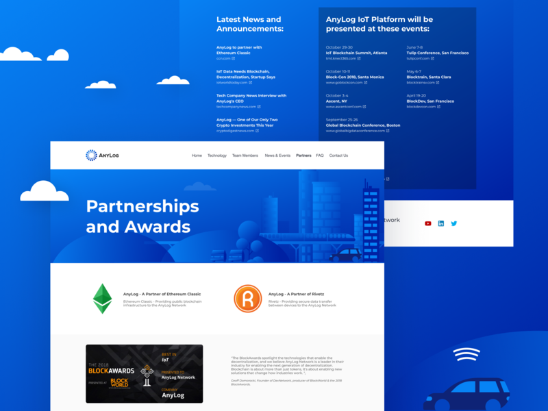 Website - AnyLog service web site design blue
