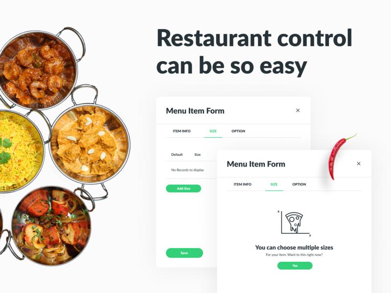 Dishzilla Restaurant Owner eat desktop app application web app menu design food app restaurant food placeholder menu