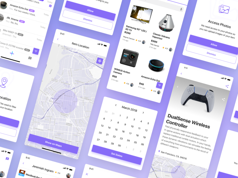 Lendli - Renting made safe and easy intuitive application agency design app web design
