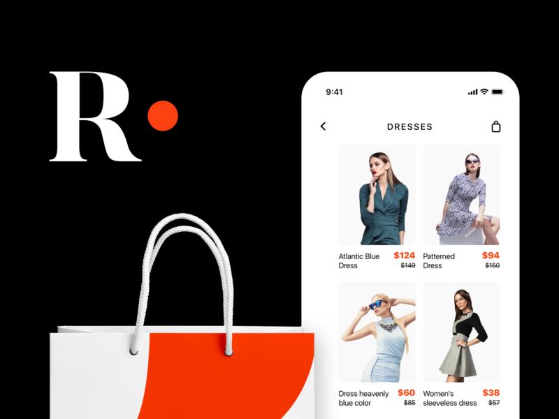 Shoppigng App Screenshot art character clean mobile logo ios minimal app ux web lettering ui vector logo design application typography brand branding design design branding