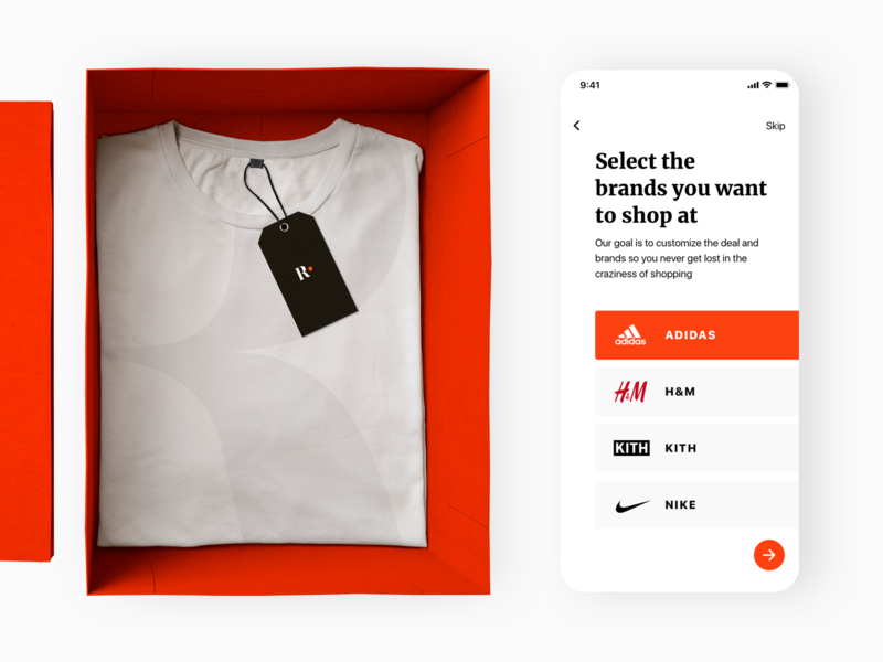 Shmata, the Shopping App orange website icon ios flat minimal app web ux ui lettering logo design application illustration logo typography brand branding design design branding
