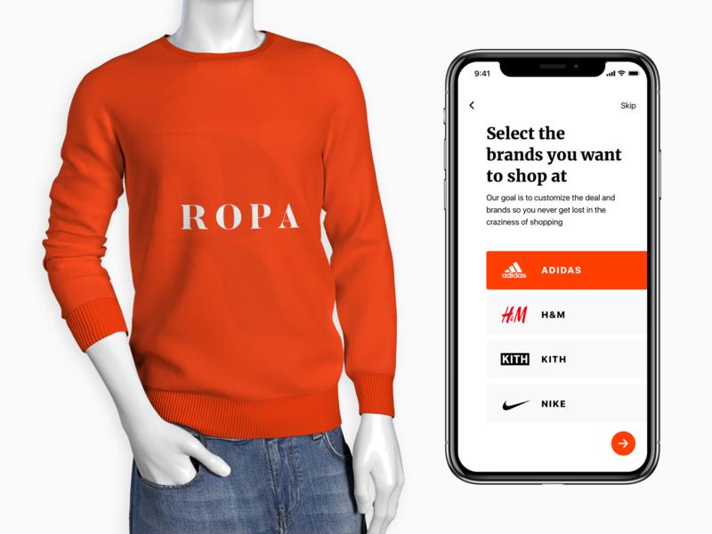 Screenshot of ROPA App orange illustrator website icon ios flat minimal app ux lettering ui logo design illustration application logo typography brand branding design design branding