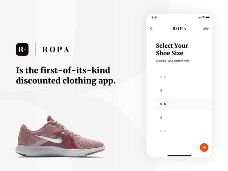 ROPA Select Screen web clean illustrator website mobile flat ios minimal app lettering ux ui application logo design illustration typography brand branding design design branding