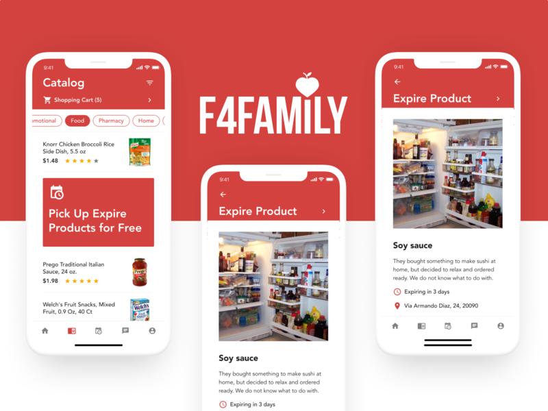 More Screens F4Family app web ux ui logo logo design brand branding design branding design