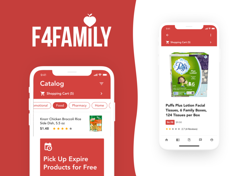 F4Family Unique Page app web ux ui logo design logo brand branding design branding design