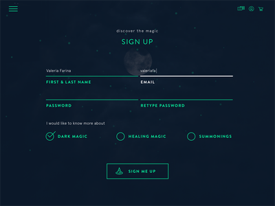 Daily UI #001: Sign Up magic form sign up ui daily daily ui