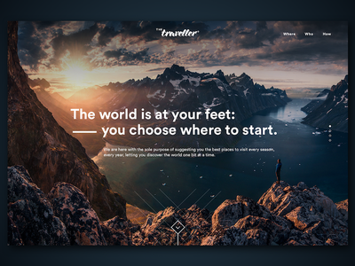 Daily UI #003: Landing Page (above the fold) landscape traveller agency travel landing page page landing ui daily daily ui