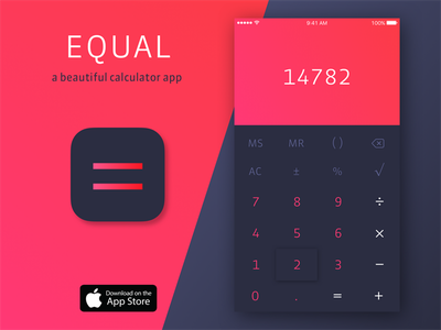 Daily UI #005: App Icon red color simple minimal calculator iphone icon ios app ui daily daily ui