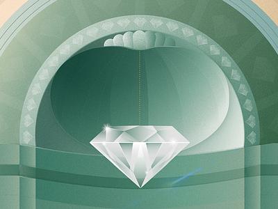 Brera Madonna Diamond green madonna brera illustration painting diamond