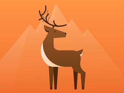 Stag hunt app hunting outdoors mountain orange doe deer stag