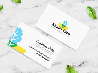 Studio Allpa logo environment consultant leaf nature multiply brand business card logo