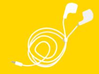 Messy headphones