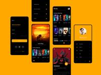 OTT Mobile App ux branding design interaction design ui app  design ux design ui design graphic  design photoshop