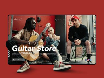 Guitar Online Store Concept