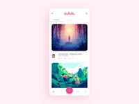 Dribbble App Design Concept