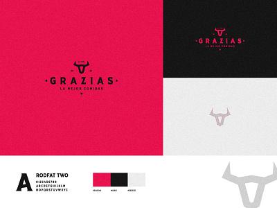 GRAZIAS flat logofolio brand identity logo illustration branding graphic design concept art modern minimal