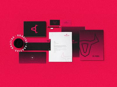 GRAZIAS flat logofolio brand identity illustration logo branding graphic design concept art modern minimal