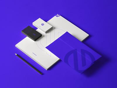CUE illustration logofolio brand identity logo graphic design branding stationery mockup concept art modern minimal