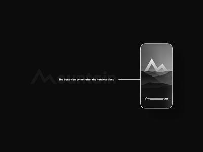 Mountain flat design logofolio brand identity illustration logo graphic design branding concept art modern minimal