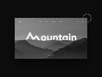 Mountain - UI\UX modern minimal mountain logo brand identity branding website design web design webdesign website web ux design uxdesign ux  ui uxui ux ui design uidesign ui  ux uiux ui