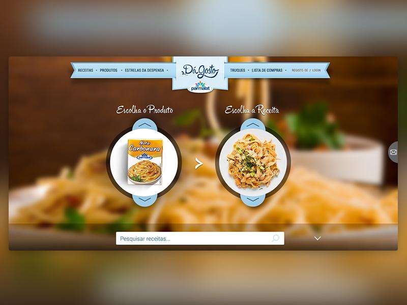 Parmalat recipes website food products header recipes recipe layout ux ui website