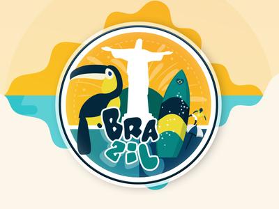 Brazil Sticker for @Sticker Mule