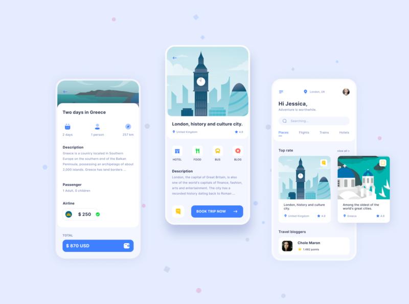 Travel Booking App icon ux ui vector illustrator illustration design simple design london ui design tourism travel app app mobile app