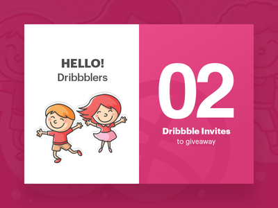 2 Dribbble Invites giveaway invites