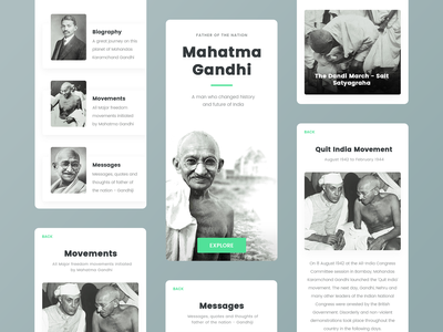 Father of the Nation - Mahatma Gandhi thoughts messages biography movement gandhi father india