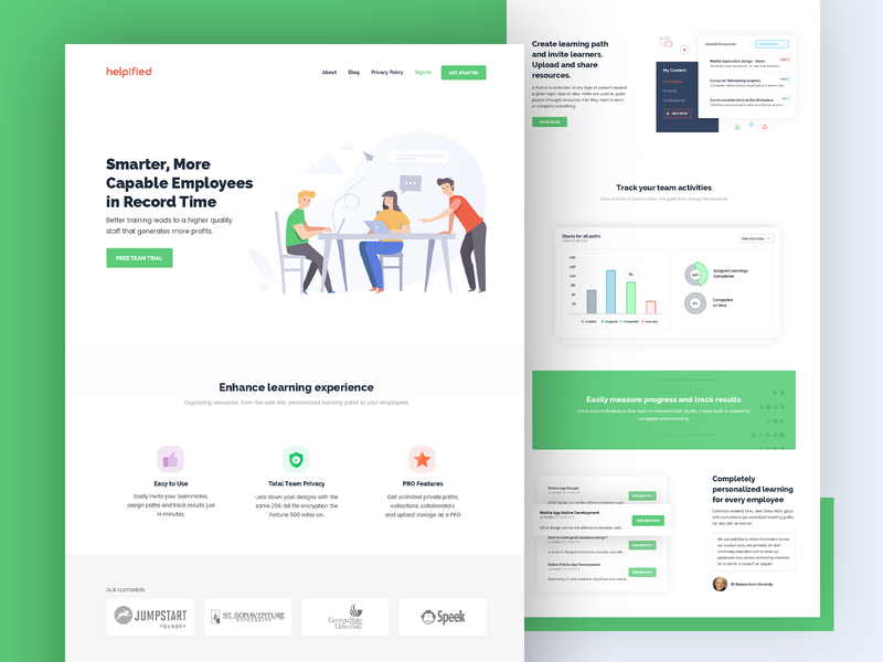 Helpified Redesign illustration design portal website ui website ux website design path leaning landing page