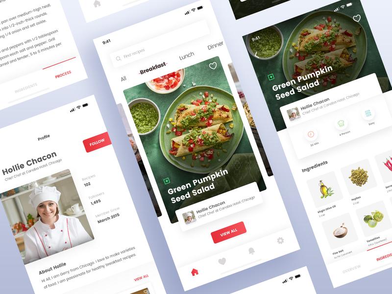 Recipe App Design agileinfoways mobileapp ios ingredients foods recipe