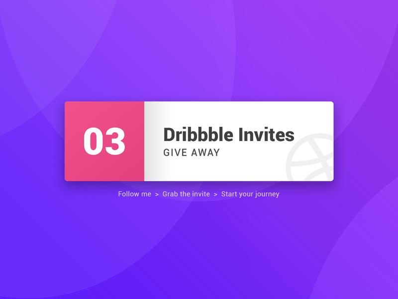 03 Dribbble Invite thanks community giveaway invite