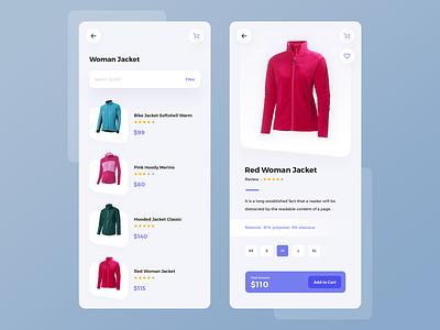 eCommerce App rating app mobile clothes woman jacket ecommerc