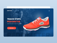 Inbuilt Pedometer In Shoes - Landing Page
