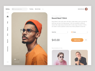 Product Page Interface Design