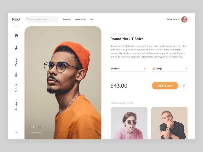 Product Page Interface Design minimal design ecommerce app agileinfoways clothes uiux