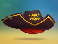 Hat pirate cat